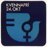 "Sticker distributed to participants - reading ""Women's Day Off"""